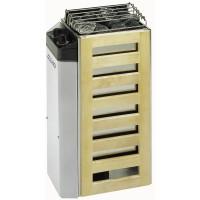 COMPACT : Poêle électrique en acier inoxydable pour les petits saunas avec unité de contrôle séparée